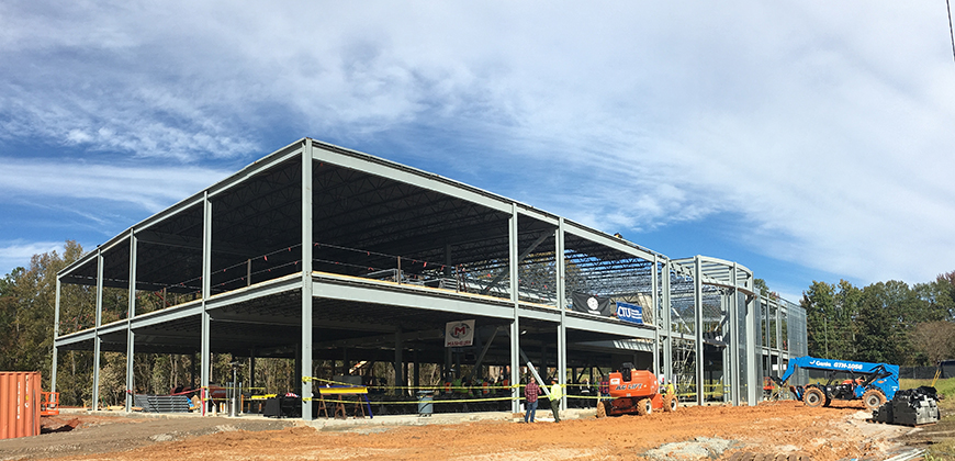 Completion of the William H. Jones Global Business & IT Center is scheduled for August.