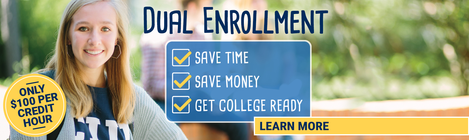 Save time and money with Dual Enrollment courses at CIU!