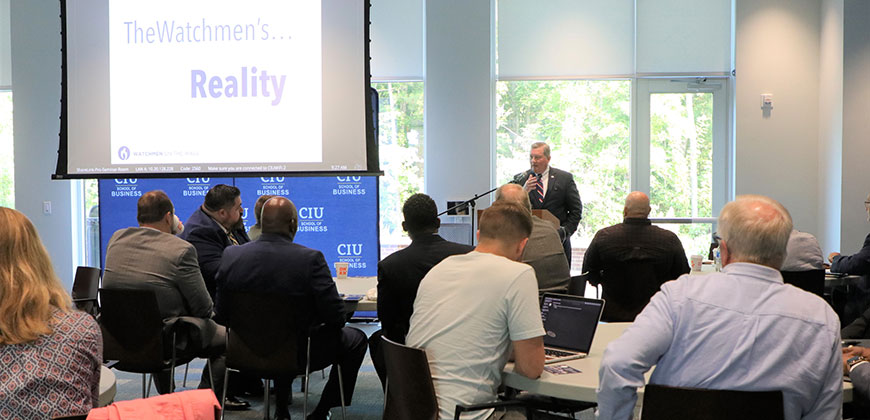 Local pastors gathered in the CIU Jones Center as they learned to engage the culture