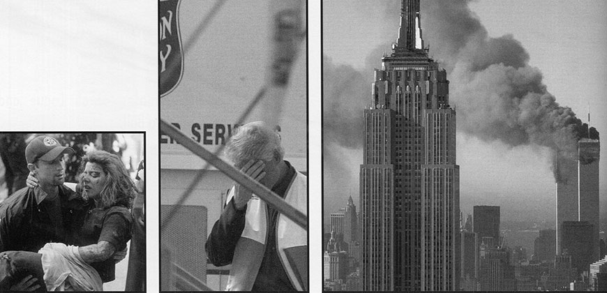 Images of 9-11 published in The 2002 Finial, the CIU yearbook.