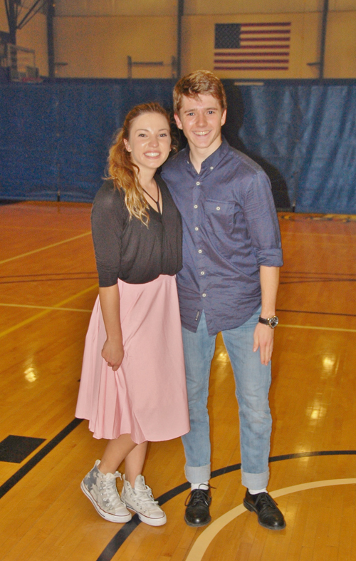 Meghann Miller and Josiah Anzenberger dress in '50s fashion.