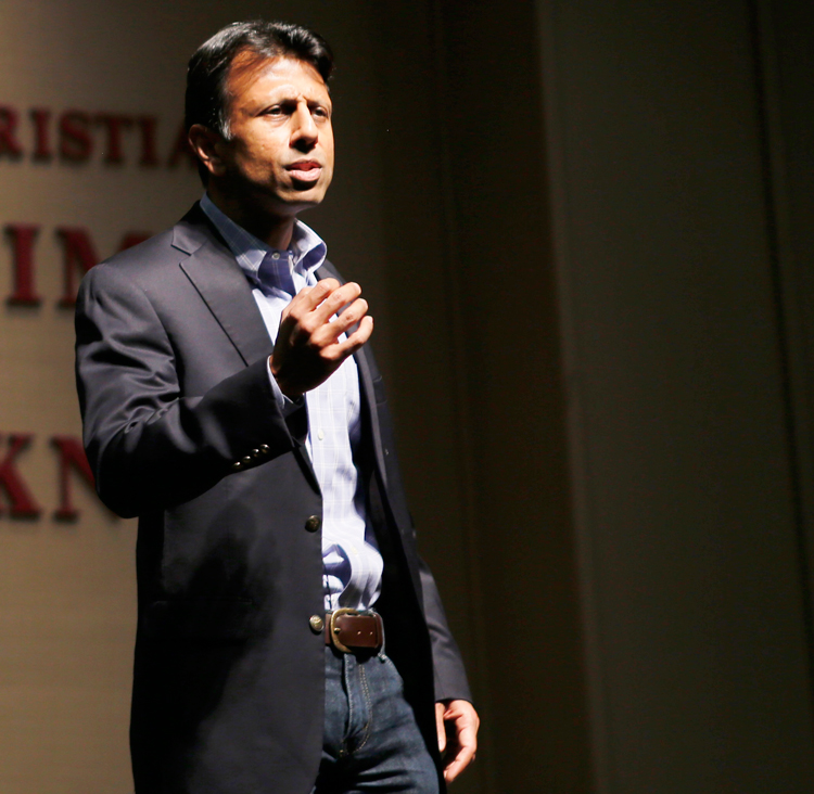 Former Louisiana Governor Bobby Jindal speaking in a CIU Assembly Feb. 18