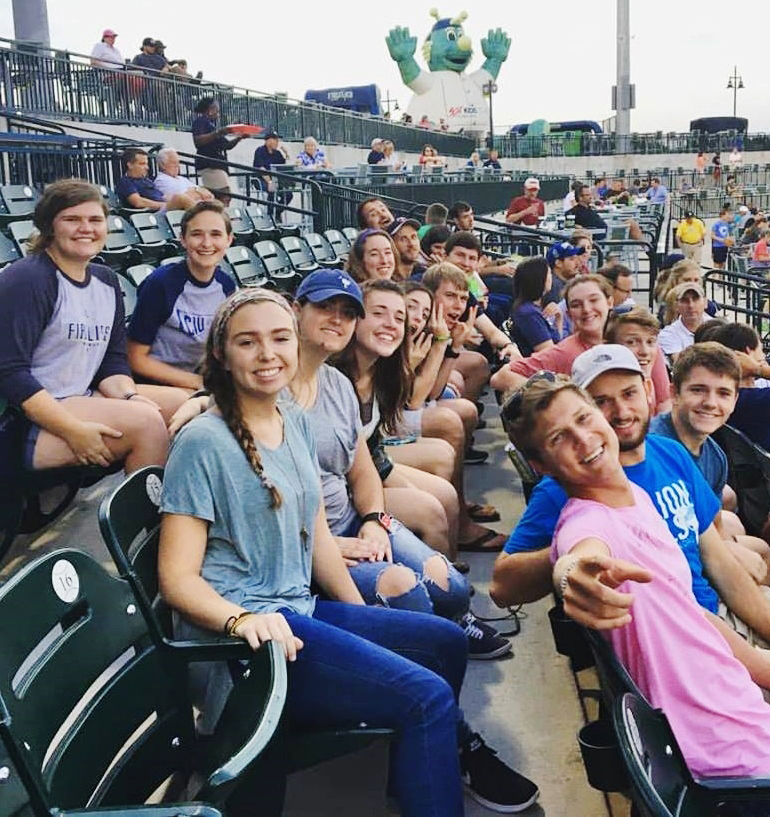 CIU students at Spirit Communications Park.