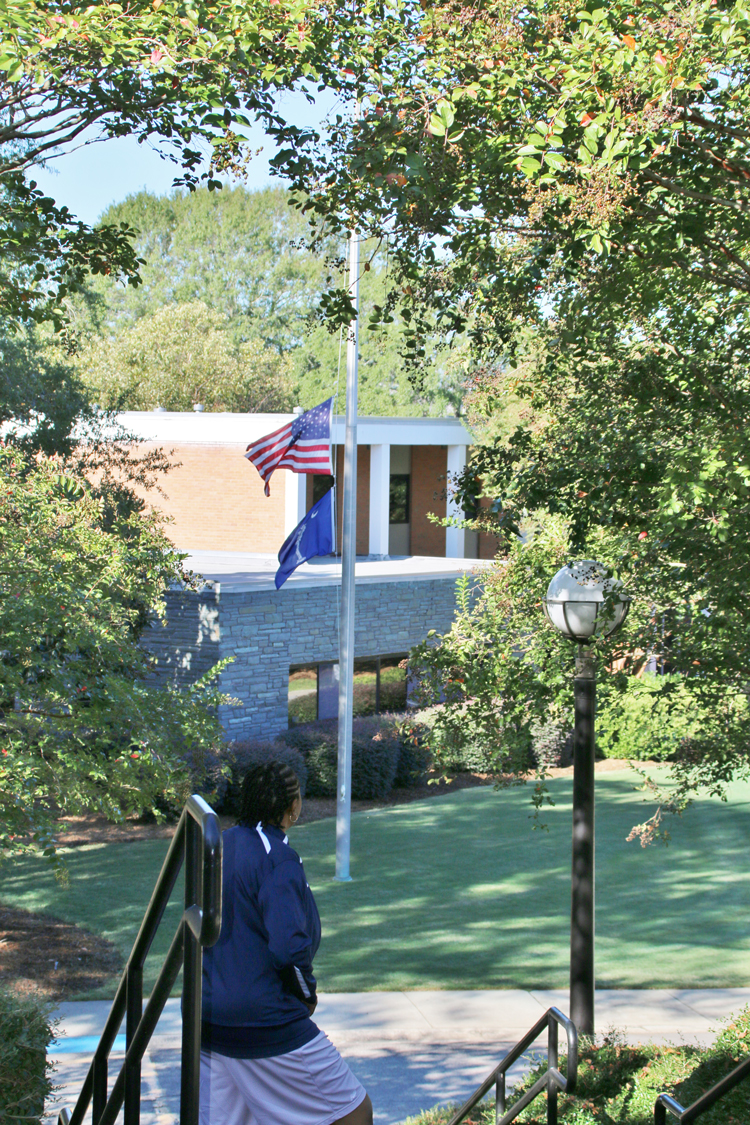 CIU flags at half staff