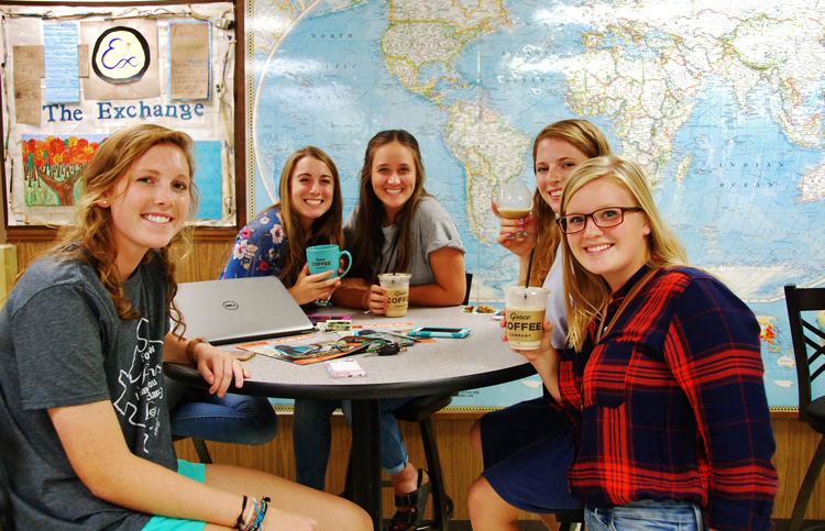 Grace coffee brings together friends in the Rossi Student Center