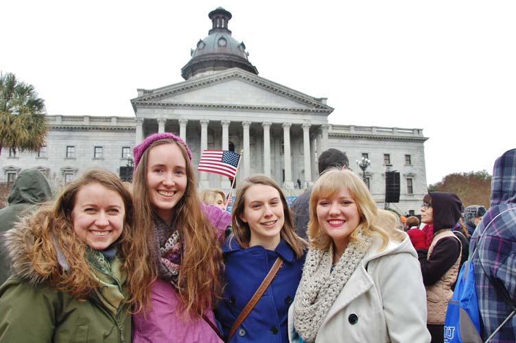 CIU students at Franklin Graham rally