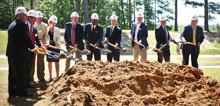 Groundbreaking William H. Jones Global Business & IT Center