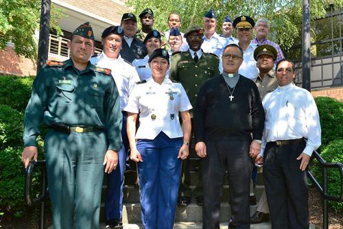 International military chaplains pose at CIU.