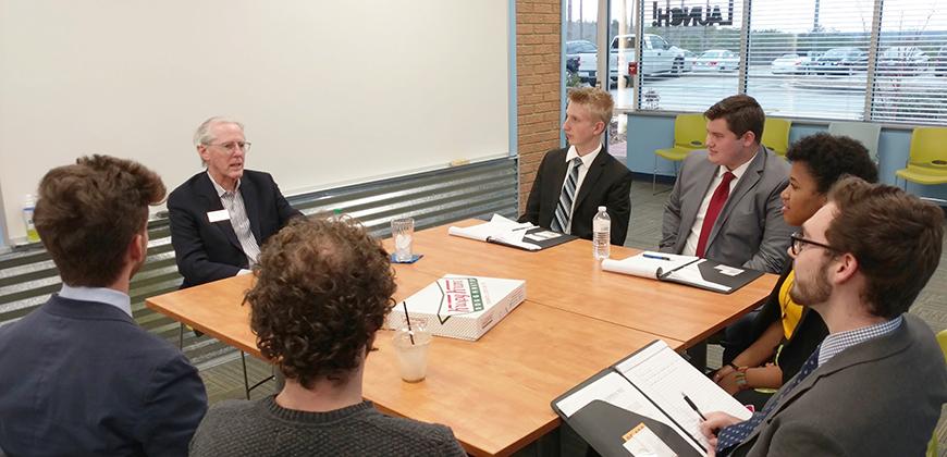 CIU students listen to former Krispy Kreme CEO James Morgan.