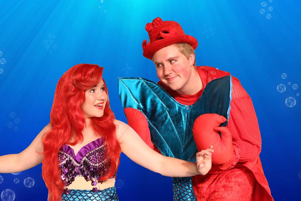 Courtney Reasoner as Ariel, and her brother Jeremy Resaoner as Sabastian.