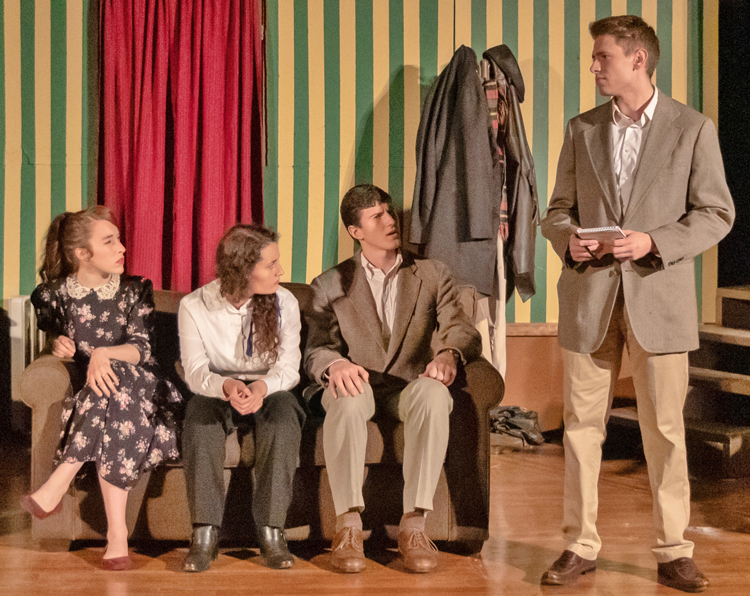 """Scene from """"The Mousetrap"""" performed at Columbia International University"""