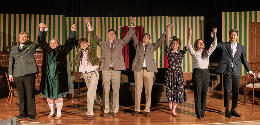 """The Mousetrap"" curtain call at CIU."