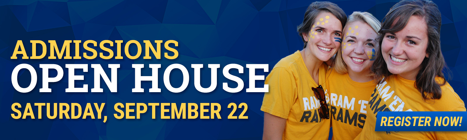 Open House for undergraduate students is Saturday, Sept. 22.