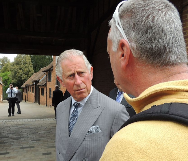 Dr. David Olshine meets Prince Charles