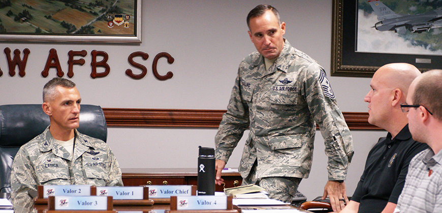 Col. Daniel Lasica (left), leads Shaw Air Force base.
