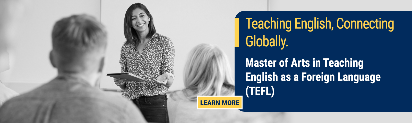Earn a Master of Arts in TEFL from CIU.