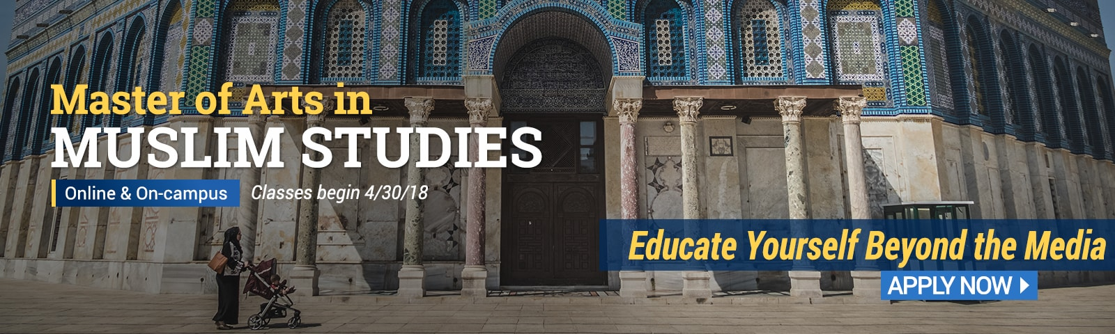 CIU offers a Master of Arts in Muslim Studies. Apply now!