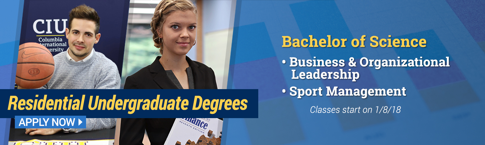 Earn a Bachelor of Science in Sport Management or Business Organizational Leadership.