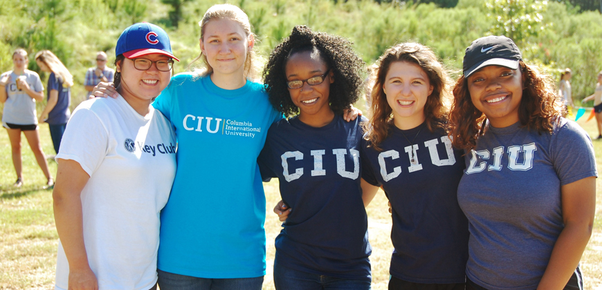 Students gear up to cheer on the CIU Rams.