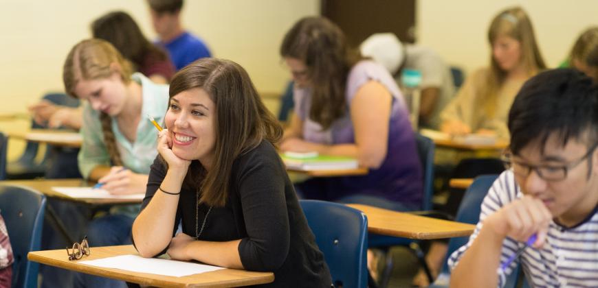 CIU undergraduate students in class.