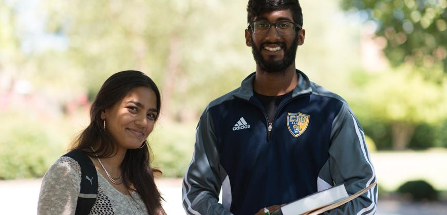Female and male international students at Columbia International University