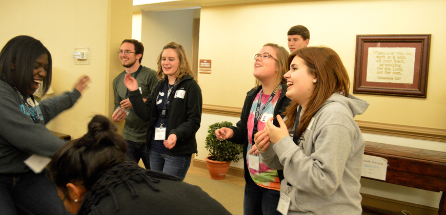 McQuilkin Scholarship Event at CIU includes fun group activities.