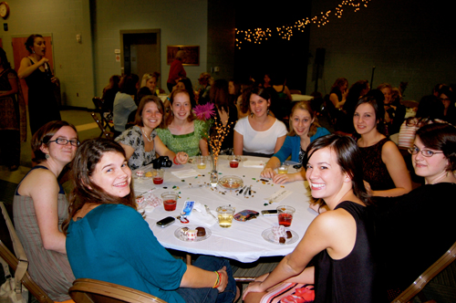 "Some of CIU ladies at ""Pieces."""