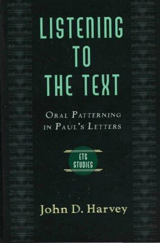 Listening to the Text cover