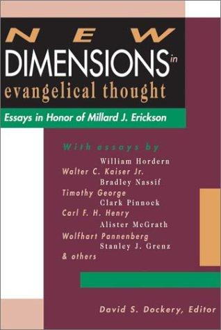 New dimensions in evangelical thought cover