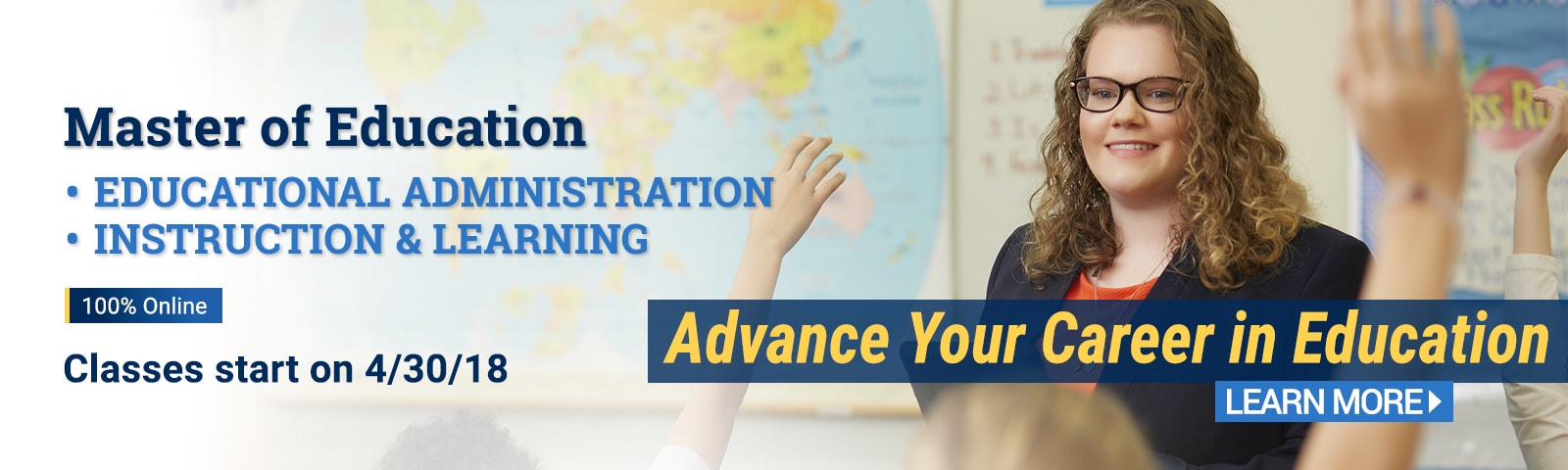 Advance your career in Education through CIU's online degree programs.
