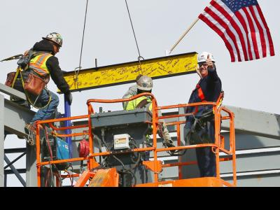 Topping Off William H. Jones Global Business & IT Center at CIU