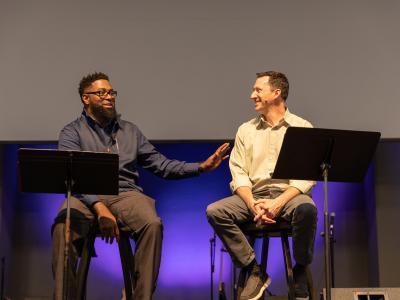 Pastors Malcolm Walls (left) and Jeff Philpott, a CIU alumnus