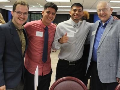 CIU Students meet a scholarship donor.