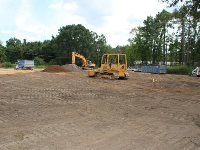 Work on the Monticello Road Corridor.