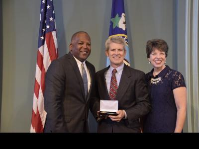 Columbia Mayor Steve Benjamin, CIU Chancellor Dr. Bill Jones and his wife Debby Jones