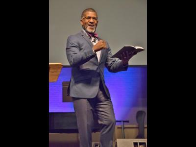 Pastor Darryl Gaddy speaks at CIU Black History Week