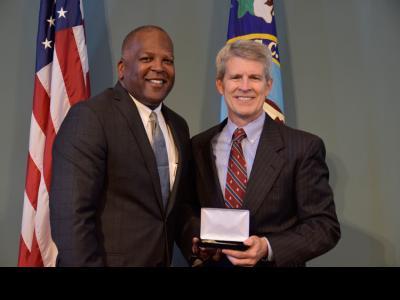Dr. Bill Jones with Columbia Mayor Steve Benjamin.