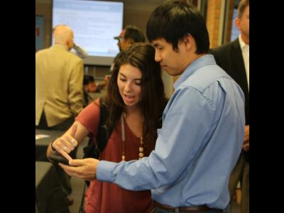 Entrepreneurs at a CIU Launch event.