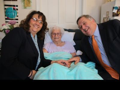 Ottie Roberson with CIU President Mark Smith and wife Debbie Smith