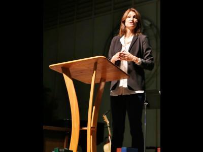 Shirin Taber speaking at CIU in 2016