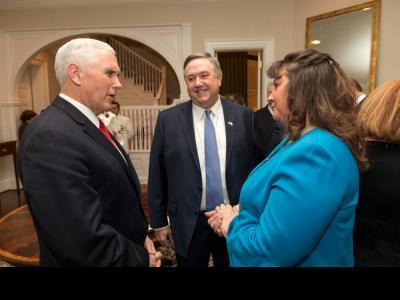 U.S. Vice President Mike Pence, CIU President  Mark Smith, Debbie Smith
