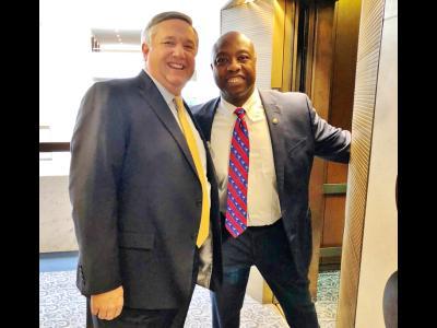 In the halls of the Senate: CIU President Mark Smith with SC Senator Tim Scott