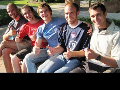 "The 1More Tour: (left to right) Matt Densky, Israel (""Izzy"") Markle, Grayson Mar"