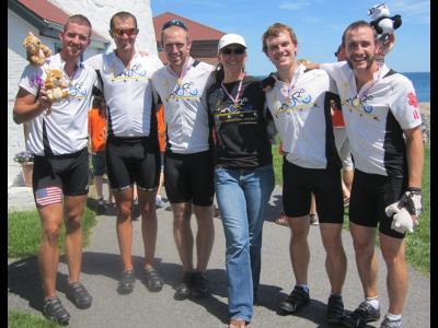 The 1More Tour Team: Jeremy Rife, Matt Densky, Drew Williams, tour coordinator M