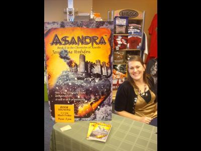 CIU freshman Jessie Mae Hodsdon at a book signing in Bangor, Maine.
