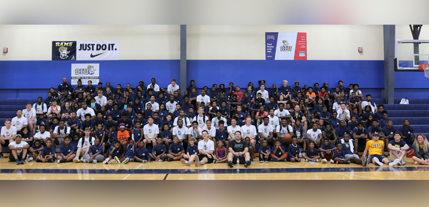The CIU Rams hold the Hope for Hope basketball camp with local youth.