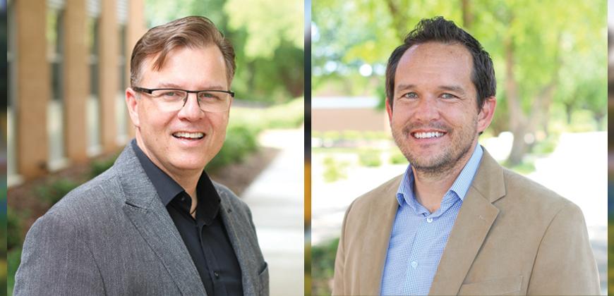 Dr. Ed Smither (left) and Dr. Trevor Castor