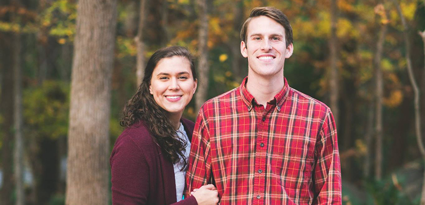 Cole Harper, area director of Mid-Carolina Young Life in Newberry, SC and his wife Tori.
