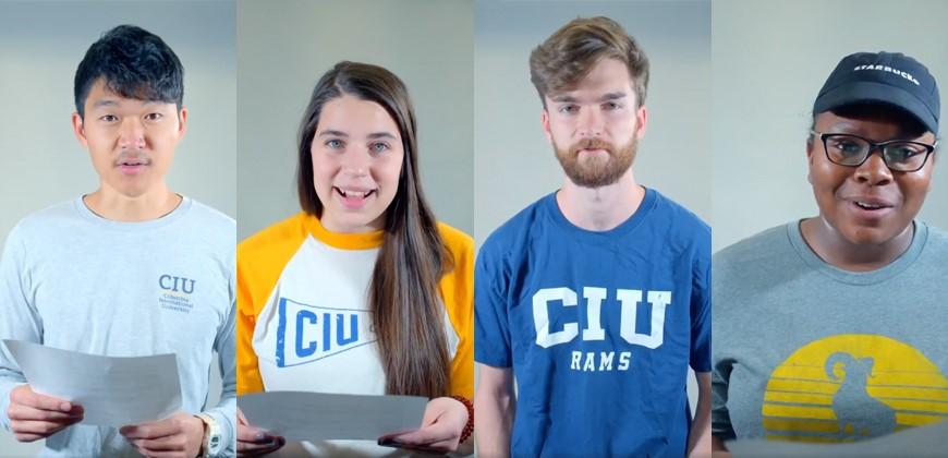 CIU Class of 2020: Caleb Joung, Hannah Wegren, David Elliott and Kayla Washington