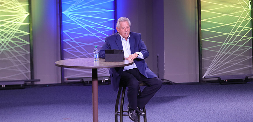 Leadership Expert Dr. John C. Maxwell speaks at Columbia International University.